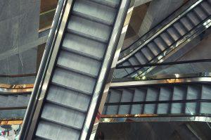 Escalator in shop